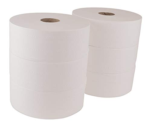 "Tork Advanced 12021502 Jumbo Bath Tissue Roll, 2-Ply, 10"" Diameter, 3.55"" Width x 1,600' Length, White (Case of 6 Rolls, 1,600' in step with Roll, 9,600 Feet)"