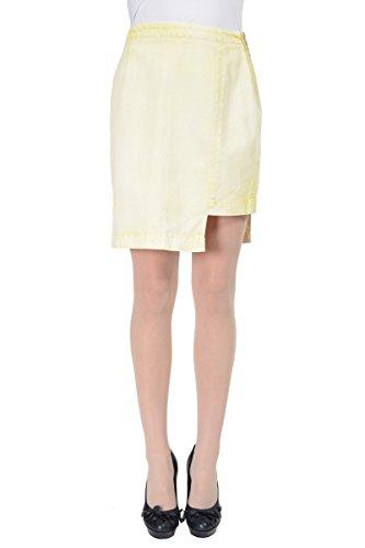 Maison Martin Margiela MM6 Women's Yellow Asymmetrical Pencil Skirt US M IT (Martin Margiela Women Skirts)