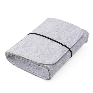 1712.54cm Mini Portable Gray Wool Felt Storage Bag for Mouse Charger - Computer Components PC Gadgets - (Grey) - 1 1712.54cm Mini Portable Gray Wool Felt Storage Bag Pouch for Mouse