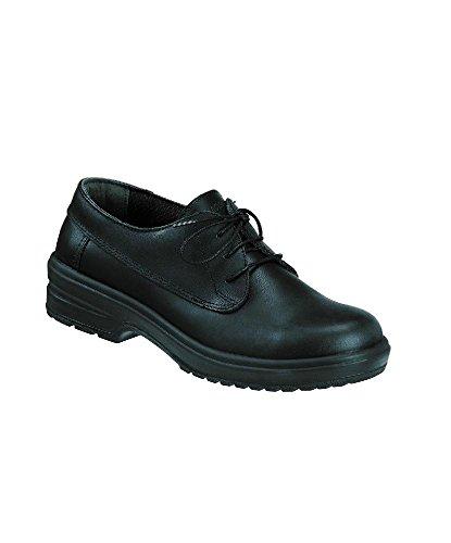 color tamaño Alexandra piel seguridad Zapatos Plain fw520bk nbsp;Mujer 2 2 negro de stc rwPzqr