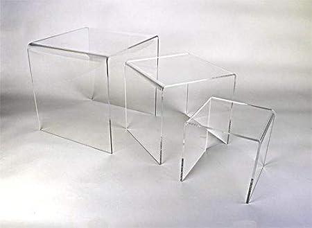 Form Xl Lot De 3 Tables Basses Gigognes Transparentes