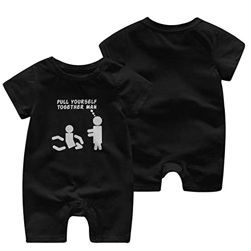 Pull Yourself Together Man Baby Babys Baby'S Short Sleeve Jumpsuit Coverall Cotton Soft Clothes