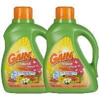 Gain Liquid HE Detergent, Island fresh, 100 oz, 64 loads-2 pk
