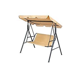 KFGARDEN Funda para silla de jardín con columpio de jardín, funda de repuesto para silla de jardín de 2 plazas, funda de banco de 85 x 48 cm