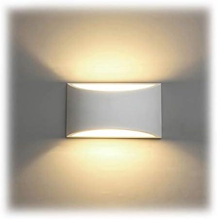 Applique da Parete Interno, 7W Intonaco LED Lampade da Parete Moderne Bianco Caldo 2700K Applique Interni Decorativa per Soggiorno, Camera da letto, Corridoio, Scale, Percorso
