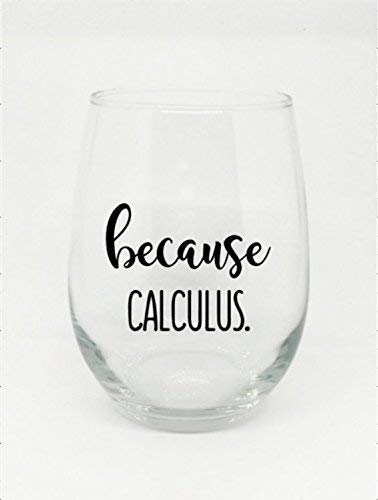 Because Calculus Stemless Wine Glass Perfect Gift for Students Graduates or if You Have Survived This Class