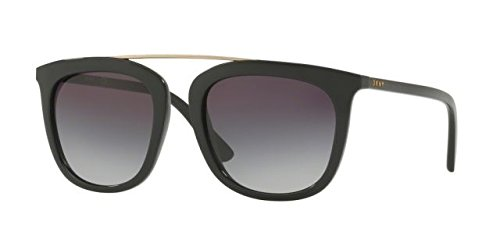 DKNY Women's Injected Woman Square Sunglasses, Black, 53 mm