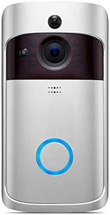 QinKingstore スマートワイヤレスフォンドアベルカメラWiFiスマートビデオインターホンリングドアベルモーション検出ビデオ電話ビジュアルカメラ