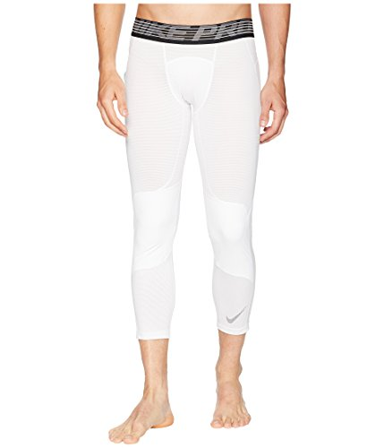 Nike Men's Pro Hypercool Tights White/Black Size ()