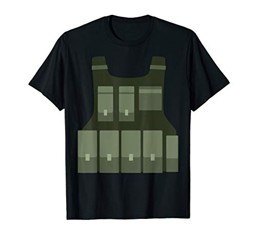 Gaming Bulletproof Vest Funny Sniper Gamer Costume T-Shirt ()