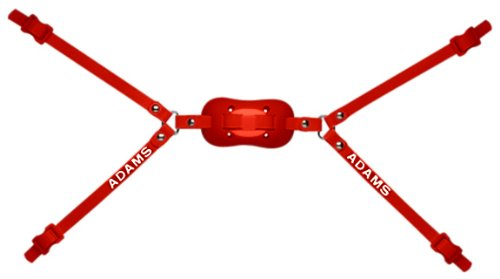 Adams USA PRO-100-4D 4-Point High Football Chin Strap with D-Rings, Scarlet