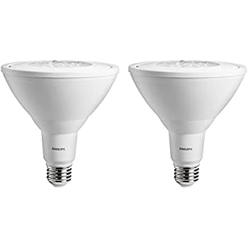 Philips LED Indoor/Outdoor Flood Bulb 2 Pack, 90 Watt Equivalent, Bright White (3000K) PAR38 Non Dimmable, Medium Screw Base