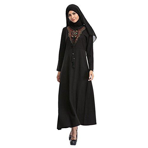 終わらせるフォアマンスラム街Hzjundasi イスラム教徒 女性 刺繍 イスラム教の Turkey Malaysia ロングスリーブ Kaftan エスニック服 Arab Dubai マキシドレス 結婚式 カクテル ガウン ルーズローブ Abaya