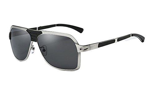 YANJING Conducir Aire Sol 400 Vintage Pescar Polarizado Grande UV Viaje Gafas Hombre Protección de Visera Libre Marco rH74rZ
