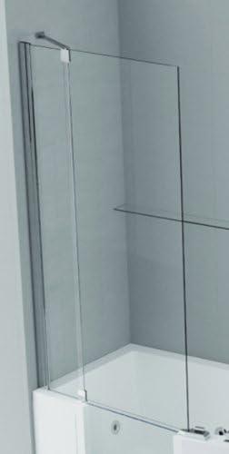 Novel Lini Iris COMBY para Accesorio para iris, 24/60 x 150 cm, vidrio templado transparente, perfil de cromo: Amazon.es: Bricolaje y herramientas