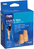 Carex Crutch Tips X-Large, 1 Set, Pack of 2