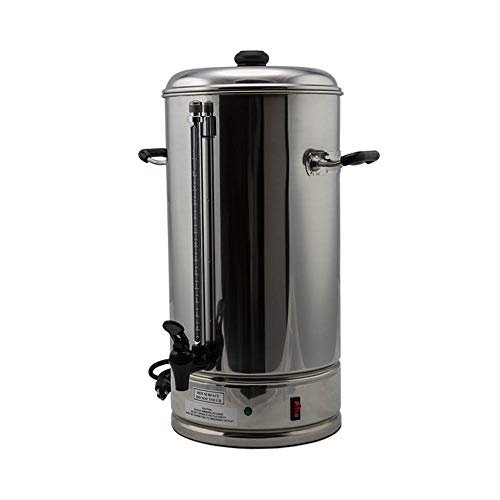 SYBO CP-15 Commercial Grade Stainless Steel Percolate Coffee Maker Hot Water Urn for Catering, 15-Liters, Metallic (Water Boiler Commercial)