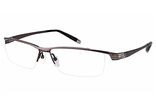 Charmant Z Eyeglasses ZT11771R ZT/11771R BR Brown Half Rim Optical Frame - Z Charmant