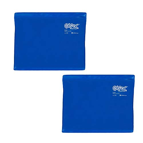(Chattanooga ColPac Reusable Gel Ice Pack Cold Therapy - Blue Vinyl - Standard - 11 in x 14 in - (2 Pack - Value Bundle))