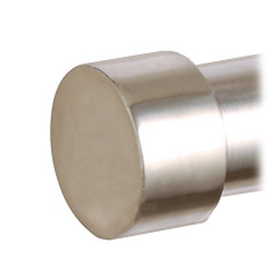Speedy Products 28mm Poles Apart End Cap Finial Pk2 Satin Silver 700075N