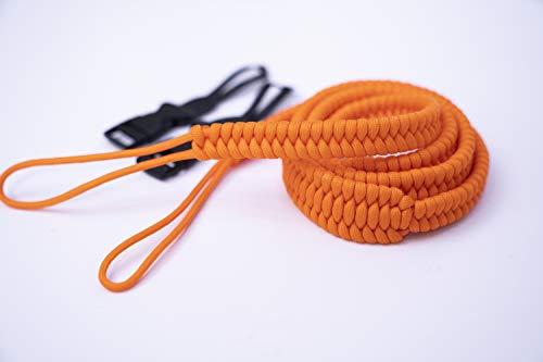 Orange Paracord Shoulder Camera Strap | Sony Canon Nikon All Cameras
