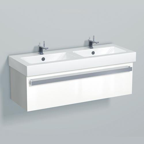 Alape Waschplatz WP.SE1200 Weiß/Weiß hochglänzend