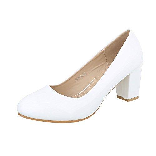 mujer Zapatos Tacones Blanco clásicos Zapatos tacón Ital Mini Design de para tacon 0qqr5P