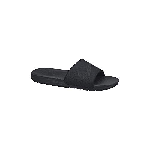 Nike Men's Benassi Solarsoft Slide Athletic Sandal, Black/Anthracite, 10 D(M) US
