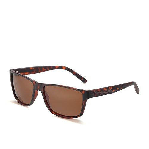 Gafas Guía de de Pesca Sunglasses C1 Brown Leopard C3 Sol polarizadas Gafas de plástico Humo TL Hombre Sol Hombres Cuadrado Gafas Negro Caminante de wfqZ6nxz
