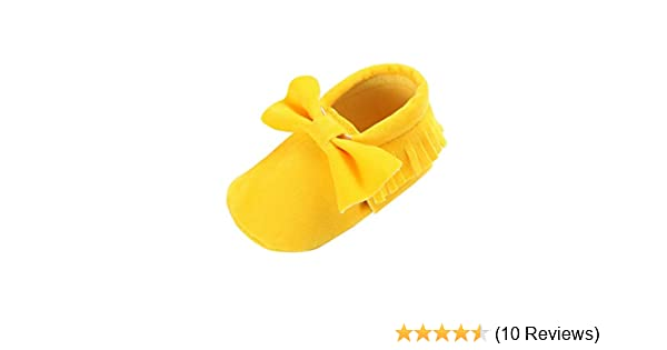CoKate Infant Shoes Baby Girls Tassel Bow Soft Sole PU Leather Loafers Moccasin Sneakers