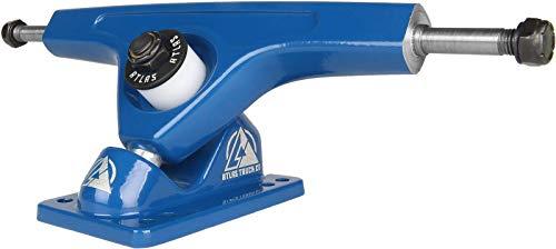 Atlas Truck Co. 180mm 48 Degree 10mm-8mm Original Freeride Reverse Kingpin Longboard Truck (Set of 2), Blue ()
