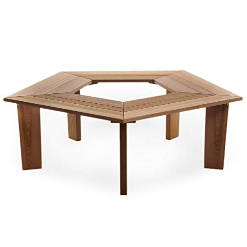 All Things Cedar TB50 Cedar Tree Bench
