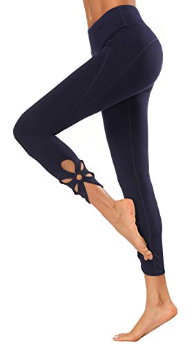 X-Fit Womens High Waist Yoga Pants Compression Workout Leggings(Navy04, XS)