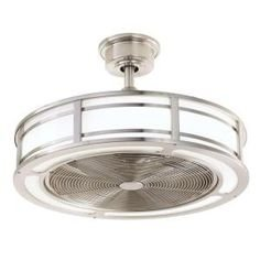 Brette 23 in. LED Indoor/Outdoor Brushed Nickel Ceiling Fan (Ceiling Fans With Led compare prices)