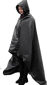 FANCYWING Outdoor Fleece Blanket XL Hooded Stadium Mat - Waterproof/Windproof Blanket for Camping, Picnic, Spo