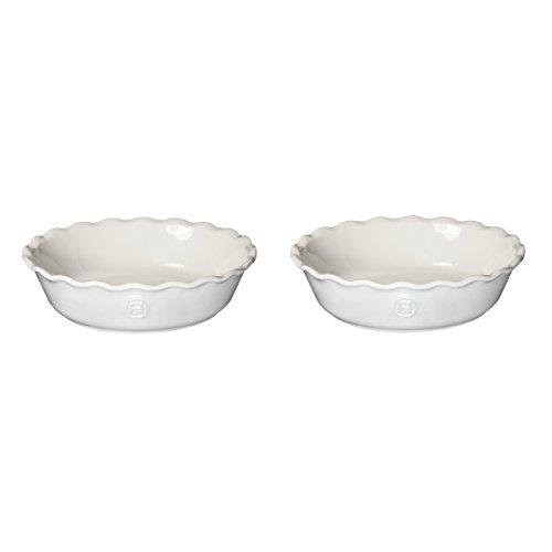Emile Henry Sugar Ceramic 5.5 Inch Mini Pie Dish, Set of 2