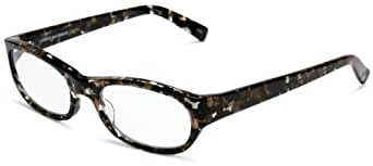 Corinne McCormack Women's Dani 25709 Oval Reading Glasses,Jet-Amber Frame/Clear Lens,1.00