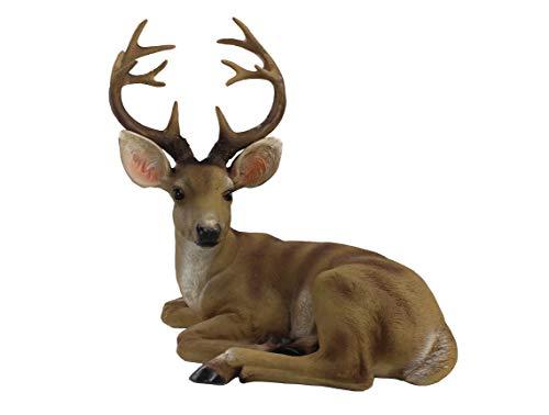 ARAIDECOR Festive Deer Animal Sculpture Home Decor or Outdoor Garden Statue - 13 x 12 x 7 Inches from ARAIDECOR