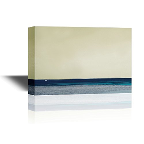 Abstract Seascape with the Calm Ocean at Sunset Gallery