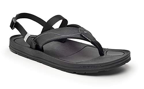 Astral Men's Filipe Outdoor Sandals, Comfortable and Quick Drying, Made for Casual Use, Travel, Boat, and Light Hiking, Black/Pewter, 11 M US -