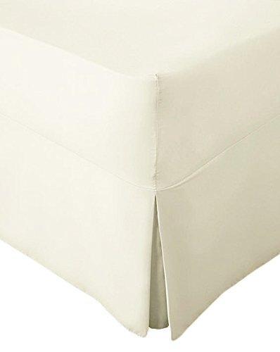 AmigoZone Extra Deep 100% Egyption Cotton 200 Thread CountFitted Valance Sheet Pleated (4FT Small Double, Black) Ayyaz Beeding