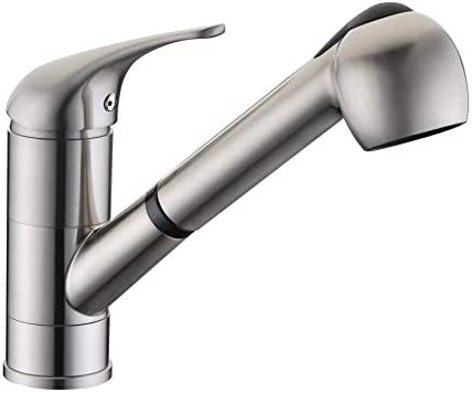 Dowell Single Handle Pull-Out Kitchen Faucet,Brushed Nickel 8002 001 02