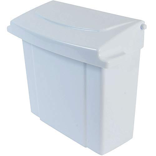 Janico 1030 Sanitary Napkin Receptacle Feminine Hygiene, Wall Mount, White