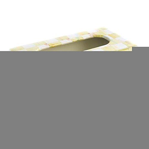 MacKenzie-Childs Parchment Check Standard Tissue Box Holder - Rectangular Paper Facial Tissue Holder - Napkin Holder - Tissue Dispenser - 5'' Wide 9.25'' Long
