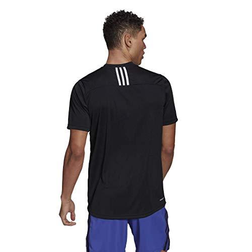 adidas Men's Primeblue Designed 2 Move 3-Stripes Tee 3