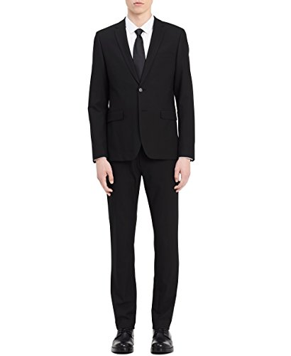 Calvin Klein Men's Infinite Slim Fit Suit Jacket 4-Way Stretch, Black, X-Large R