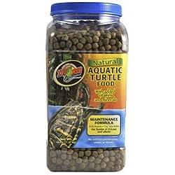 Zoo Med Zm113 Natural Aquatic Turtle Food Maintenance Formula 45 Oz (1 Pack), One Size
