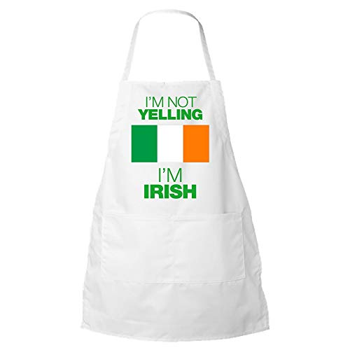 I'm Not Yelling I'm Irish Unisex Apron - St Patricks Day Fun Cool BBQ Kitchen Bib - Makes a Great Gift!