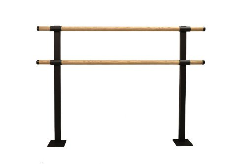 Vita Vibe Ballet Barre - SHD72-W - 6ft. Traditional Wood Double Fixed Height Floor Mount Ballet Bar - Stretch/Dance Bar - USA Made by Vita Vibe Floor Mount Ballet Barres