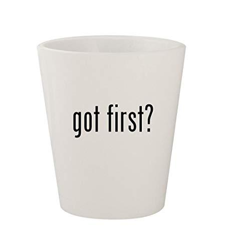 got first? - Ceramic White 1.5oz Shot Glass